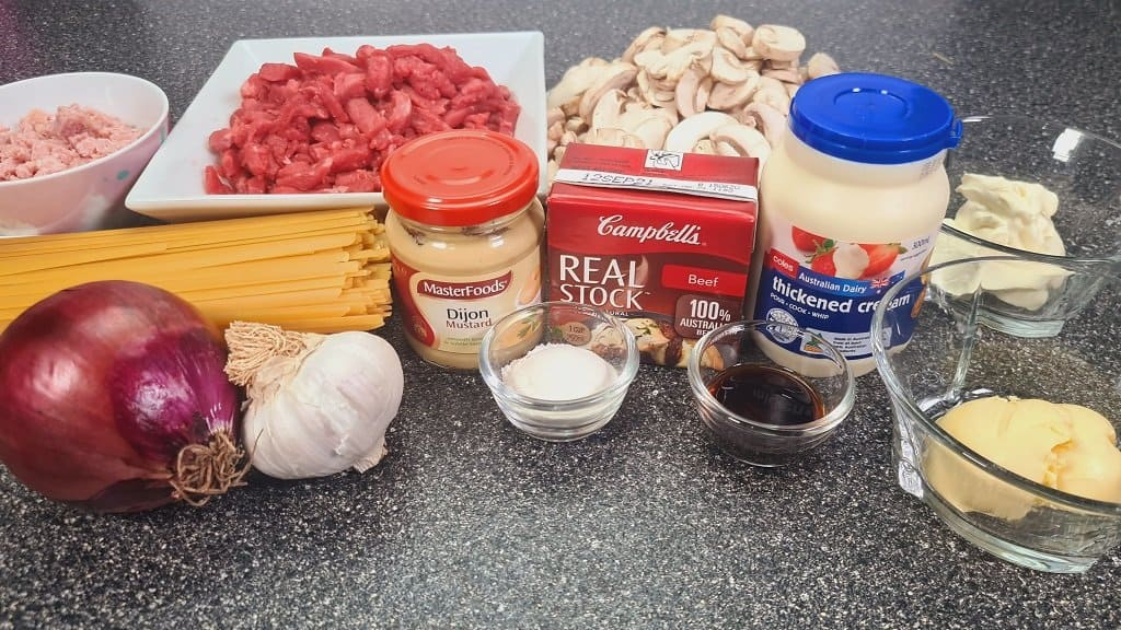 beef and bacon stroganoff