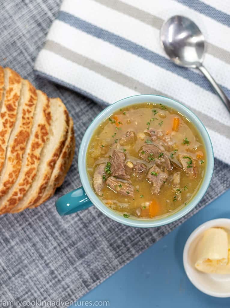 Leftover Roast Lamb and Vegetable Soup