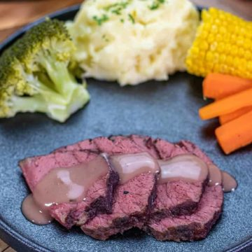 Slow Cooked Corned Beef In Red Wine