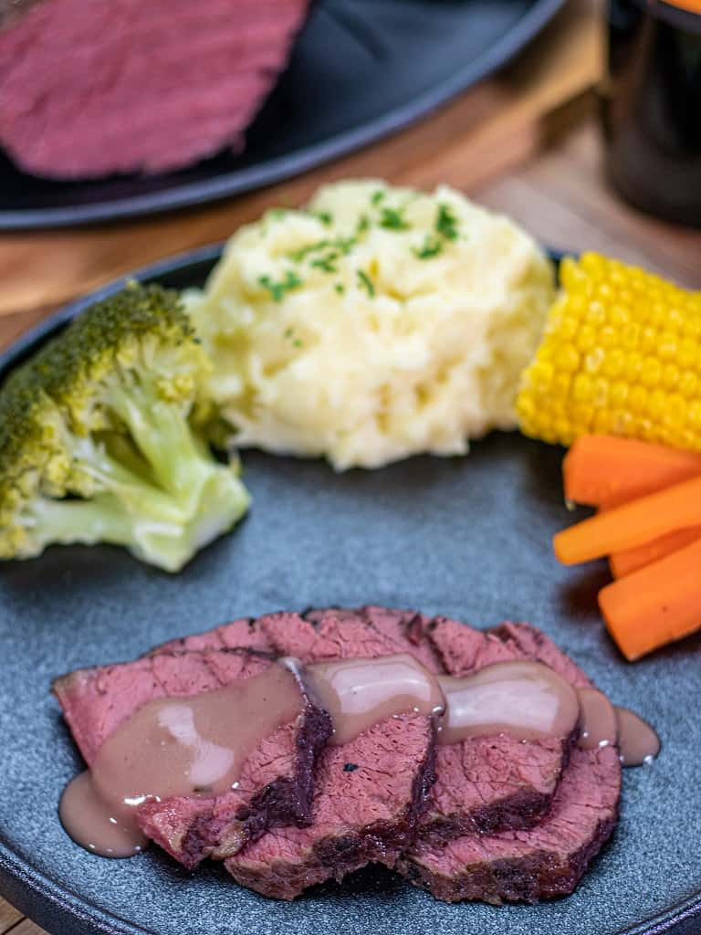 slow cooked corned beef