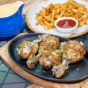 main featured image for pressured cooked herbed chicken drumsticks