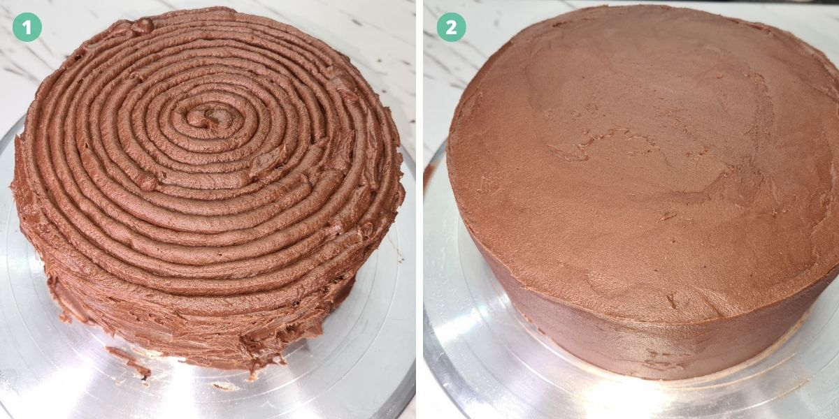 second-layer-of-the-chocolate-buttercream-icing