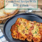 pinterest-pin-image-for-bacon-wrapped-cannelloni-recipe