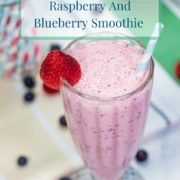 pinterest-pin-image-for-raspberry-and-blueberry-smoothie-recipe